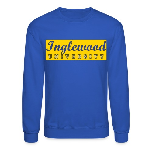 Blue/Yellow Inglewood University Long Sleeve - Crewneck Sweatshirt