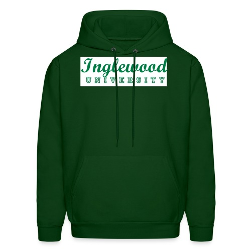 Green/White Inglewood University Long Sleeve - Men's Hoodie