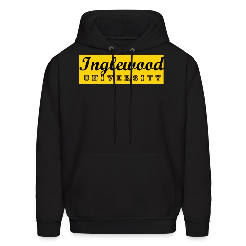 Black/Yellow Inglewood University Long Sleeve - Men's Hoodie