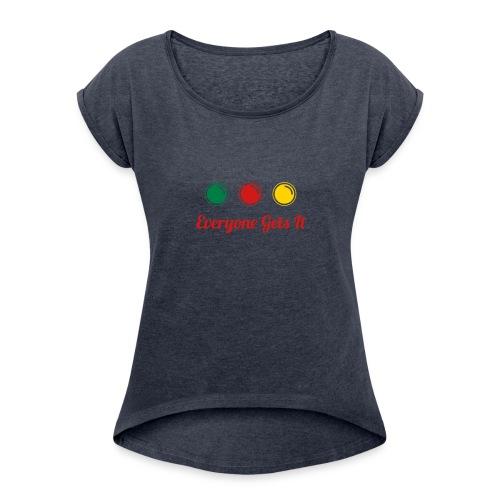 Everyone Grey - Women's Roll Cuff T-Shirt