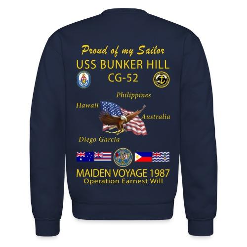 USS BUNKER HILL CG-52 1987 CRUISE SWEATSHIRT - FAMILY - Crewneck Sweatshirt