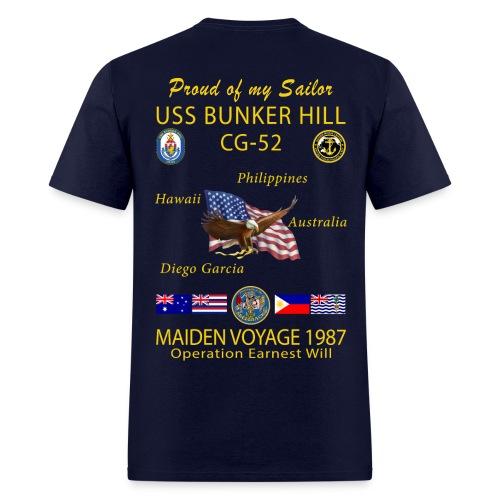 USS BUNKER HILL CG-52 1987 CRUISE SHIRT - FAMILY - Men's T-Shirt