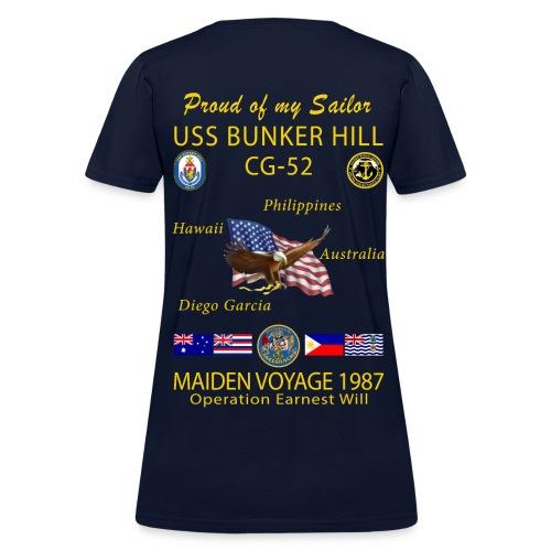 USS BUNKER HILL CG-52 1987 WOMENS CRUISE SHIRT - FAMILY - Women's T-Shirt