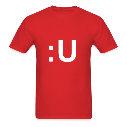 :U in White Font (Male) - Men's T-Shirt