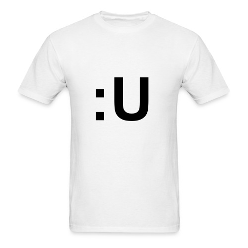 :U in Black Font (Male) - Men's T-Shirt