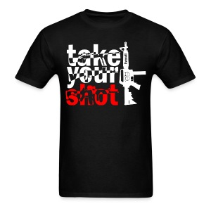 Take Your Shot (Black) - Men's T-Shirt