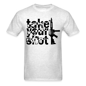 Take Your Shot (Heather Grey) - Men's T-Shirt
