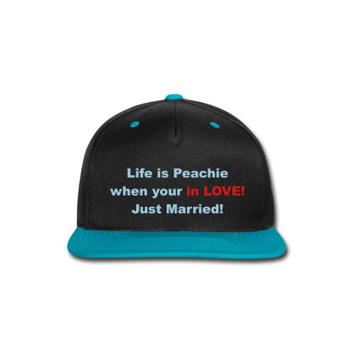 Life is Peachie when in love - Snap-back Baseball Cap