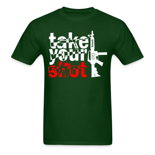 Take Your Shot (Green) - Men's T-Shirt