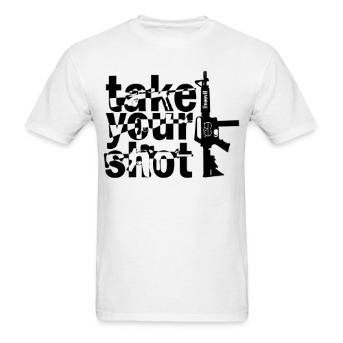 Take Your Shot (White) - Men's T-Shirt