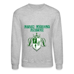 Livin Lovely United Men's Crewneck  - Crewneck Sweatshirt