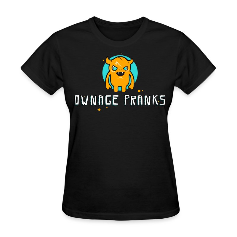 Ownage Pranks Orange Logo Shirt - Women's T-Shirt