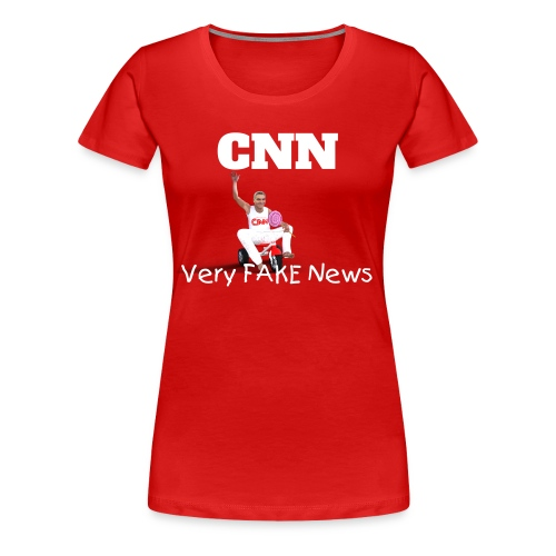 CNN Very Fake News - Women's Premium T-Shirt