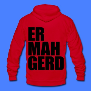Ermahgerd Zip Hoodies/Jackets - Unisex Fleece Zip Hoodie by American Apparel