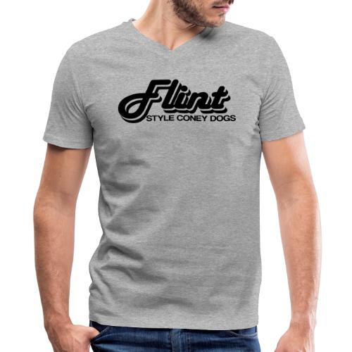 Flint Style Coney Dogs - Men's V-Neck T-Shirt by Canvas