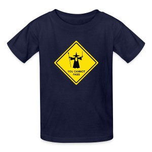 You Cannot Pass warning sign - Kids' T-Shirt