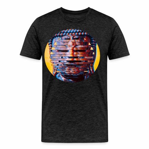 Multi Buddha Circle in Orange - Men's Premium T-Shirt
