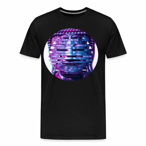 Multi Buddha Circle in Blue - Men's Premium T-Shirt