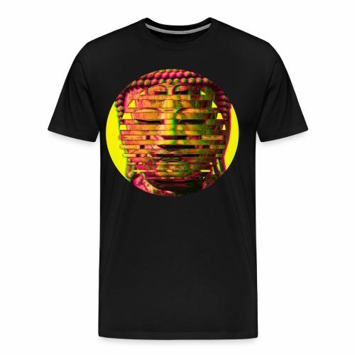 Multi Buddha Circle in Yellow - Men's Premium T-Shirt