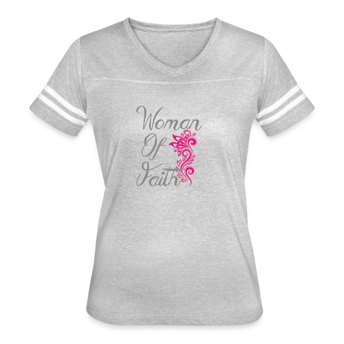 Woman of Faith Flair - Women's Vintage Sport T-Shirt