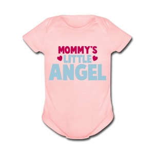 MOMMY'S LITTLE ANGEL - Short Sleeve Baby Bodysuit