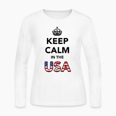 Keep Calm in the USA Long Sleeve Shirts