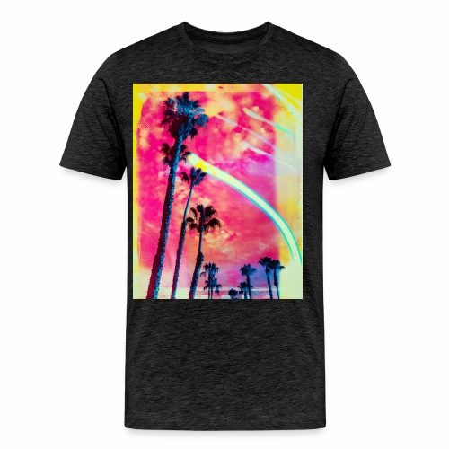 New Wave Palm Trees 01 - Men's Premium T-Shirt