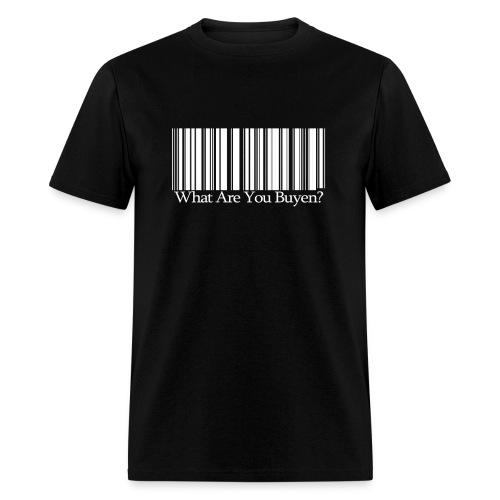 WAYB Barcode - Centered  - Men's T-Shirt