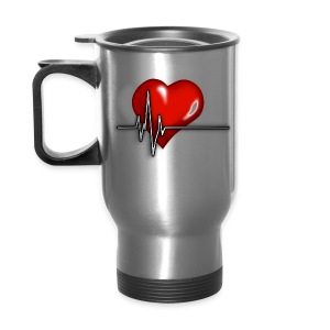Happy heart, good ECG - Travel Mug