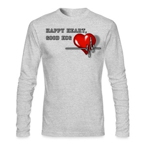 Happy heart, good ECG - Men's Long Sleeve T-Shirt by Next Level