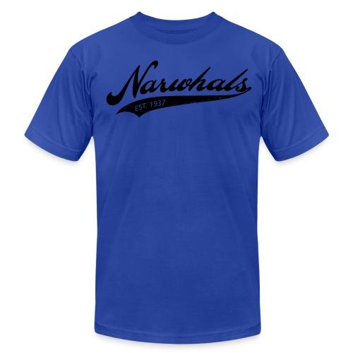 Narwhal Script - Men's Fine Jersey T-Shirt
