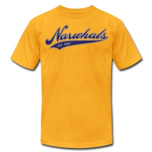 Narwhal Script - Men's T-Shirt by American Apparel