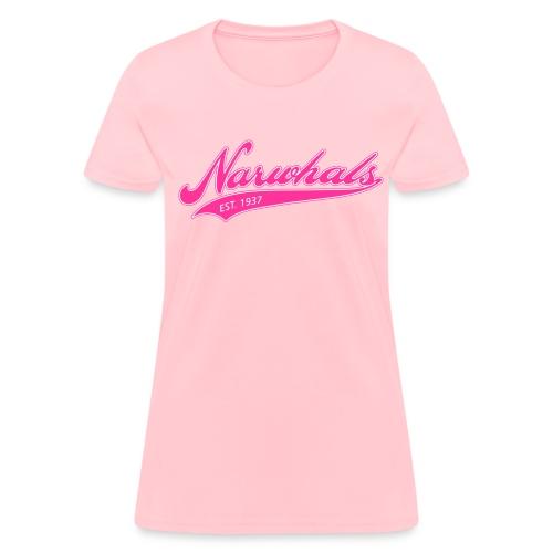 Narwhal Script - Women's T-Shirt