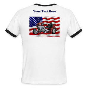 Men's L/W Ringer T-Back-WingTriketxt - Men's Ringer T-Shirt
