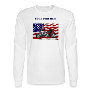 Men's LS Hanes Tee- Front-FlagWingTrike - Men's Long Sleeve T-Shirt
