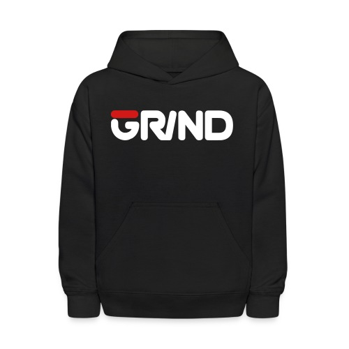 GRIND FILA INSPIRED WHITE/RED KID'S HOODIE - Kids' Hoodie
