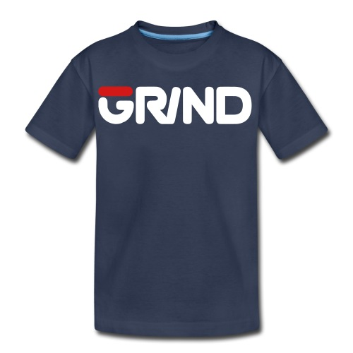 GRIND FILA INSPIRED WHITE/RED KID'S T-SHIRT - Kids' Premium T-Shirt