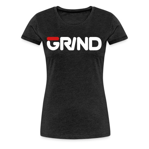 GRIND FILA INSPIRED WHITE/RED WOMEN'S T-SHIRT - Women's Premium T-Shirt