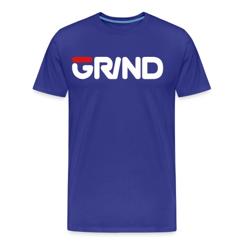 GRIND FILA INSPIRED WHITE/RED MEN'S T-SHIRT - Men's Premium T-Shirt