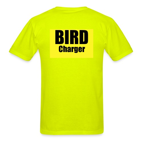 Bird Charger Back and Front - Men's T-Shirt