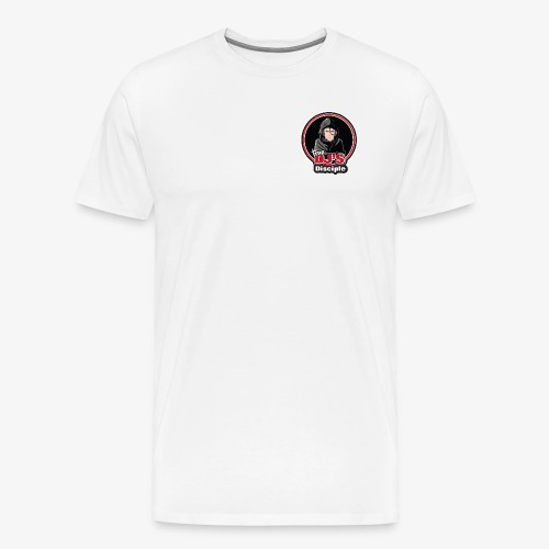 White T Logo Heart - Men's Premium T-Shirt