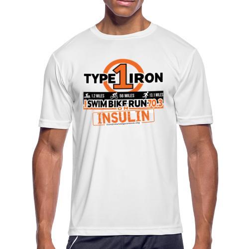 Type 1 Diabetes 70.3 Triathlon - Men's Moisture Wicking Performance T-Shirt