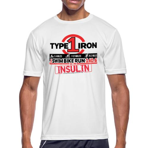 Type 1 Diabetes 140.6 Triathlon - Men's Moisture Wicking Performance T-Shirt