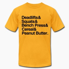 Deadlifts Squats Bench Press Cereal Peanut Butter