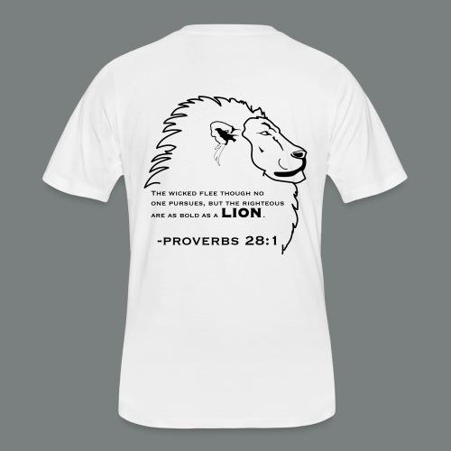 Bold as a Lion Proverb (back) - Men's 50/50 T-Shirt