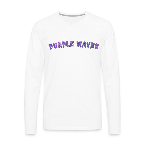 Purple Waves Longsleeve White - Men's Premium Long Sleeve T-Shirt