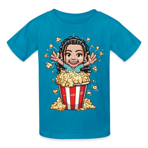 Crystal Busting out of Popcorn! Kid's T-Shirt - Kids' T-Shirt