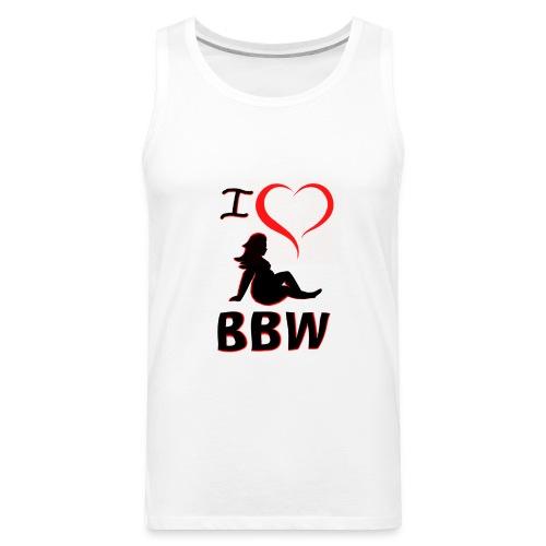I Heart BBW  - Men's Premium Tank