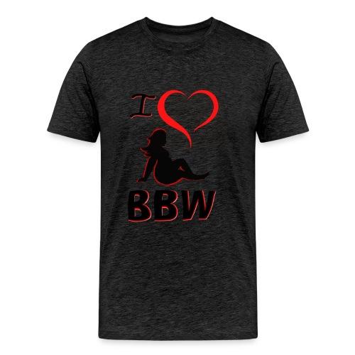 I Heart BBW  - Men's Premium T-Shirt
