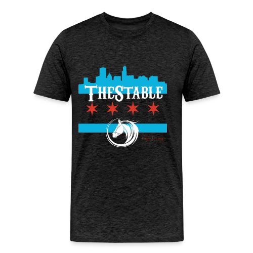 Stars Skyline - white  - Men's Premium T-Shirt